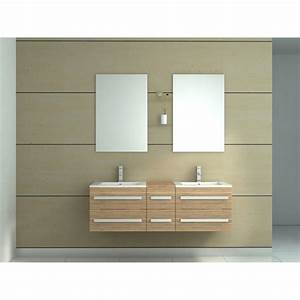 Meuble Vasque Bois Salle De Bain : meuble salle de bain teck leroy merlin digpres ~ Voncanada.com Idées de Décoration