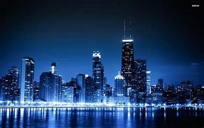 Chicago Skyline Night Cities Smart Wallpapers Desktop