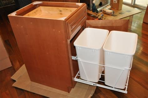 trash can storage cabinet kitchen trash cans in cabinet roselawnlutheran