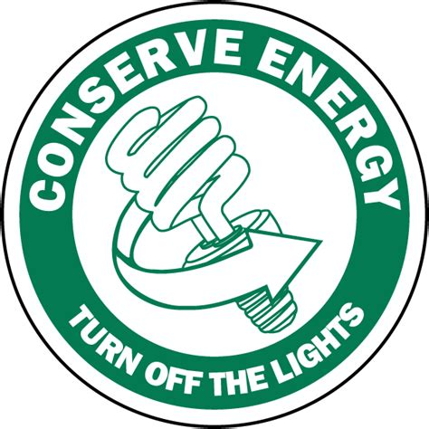 shut the lights off turn off the lights label f7518 by safetysign com