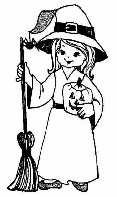 Coloring Halloween Pages Fun Costumes Scary Colouring
