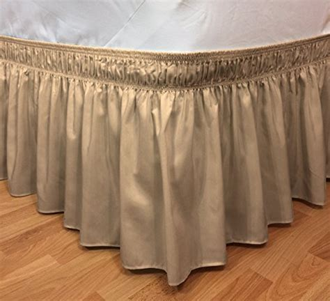 bed skirt pins elastic ruffle bed skirt easy warp around king size