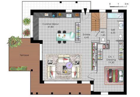 plan de maison 4 chambres avec 騁age maison design ossature bois dé du plan de maison design ossature bois faire construire sa maison
