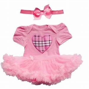 Baby Infant Clothes Girl Party Outfits Dresses Tutu Newborn Romper Babygrow Pink | eBay