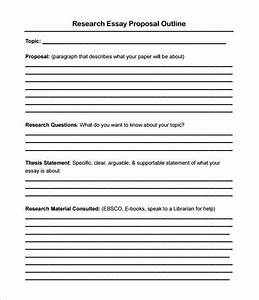 Standard Research Proposal Format Informational Essay Examples