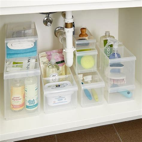 stackable  sink organization storage kit