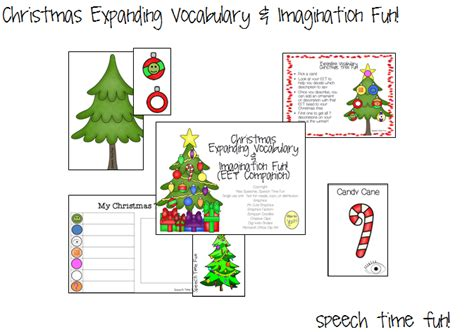 Christmas Expanding Vocabulary & Imagination Fun