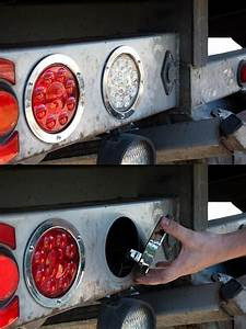 Round Led Truck And Trailer Lights - 4 U0026quot  Led Brake  Turn  Tail Lights W   Built-in Flange