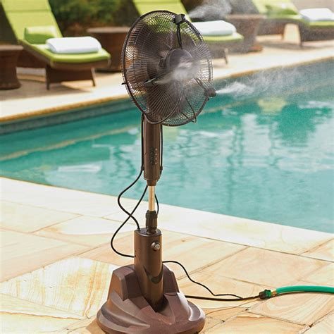 Portable Patio Misting Fans by Portable Misting Outdoor Fan Traditional Electric Fans