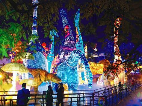 festival of lights houston dinosaur lanterns houston magical winter lights festival culture map billiardfactory