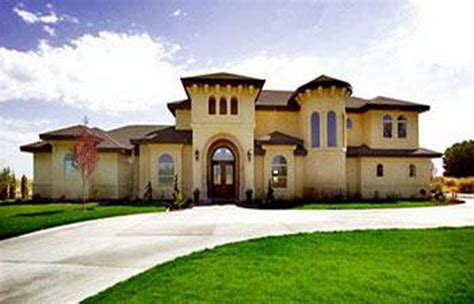 Luxury Tuscan Mediterranean House Plans Two Story Homes