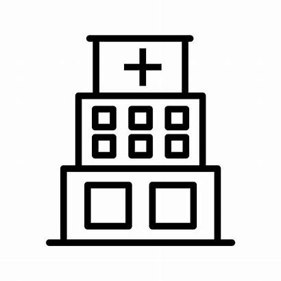 Hospital Icon Vector Building Icons Clinic System