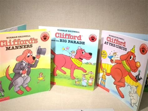 Vintage Clifford The Big Red Dog Set Of 3 Picture Books Etsy