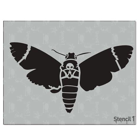 stencil1 moth skull stencil s1 01 129 the home depot