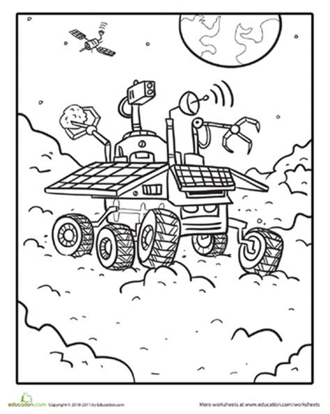 mars coloring pages mars rover coloring page education ruimte