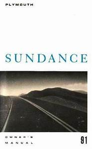 1991 Plymouth Sundance Owners Manual User Guide Reference