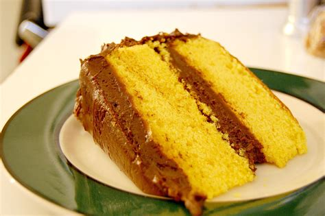 yellow cake with chocolate icing recipe for yellow layer cake with chocolate frosting 1513