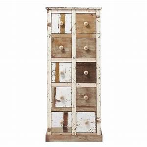 Cabinet Maison Du Monde : cabinet de rangement en bois recycl l 68 cm arcachon maisons du monde ~ Teatrodelosmanantiales.com Idées de Décoration