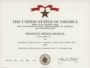 bronze star award certificate With bronze star certificate template