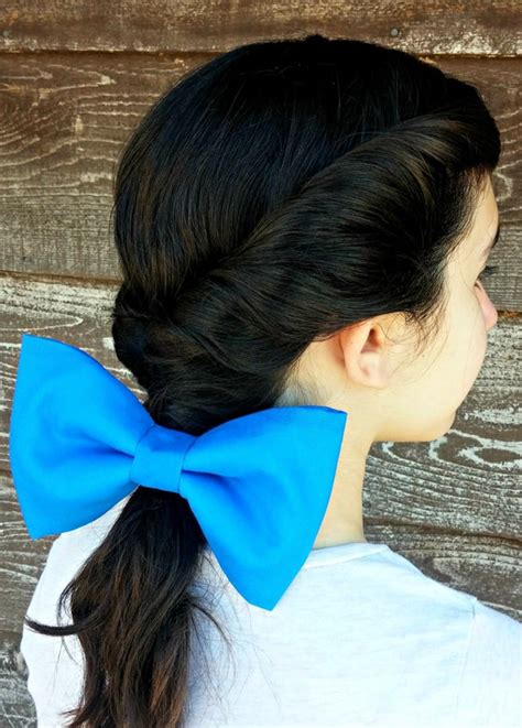belle beauty   beast large blue hair bow disney