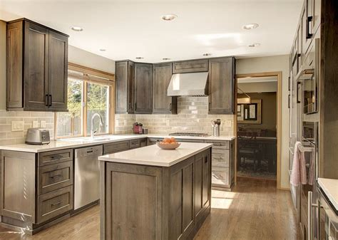 thoughtful handsome kitchen remodel newly reconfigured