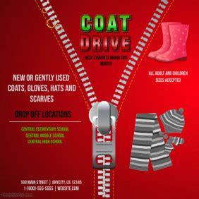 customizable design templates  coat drive postermywall