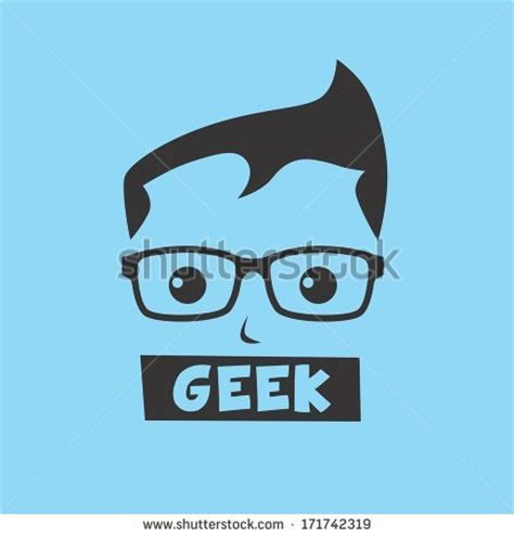 Computer Geek Cartoon Character
