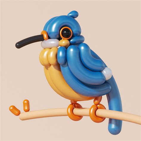 bb balloon birds  behance