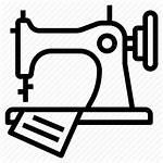 Sewing Icon Machine Garment Fabric Equipment Icons