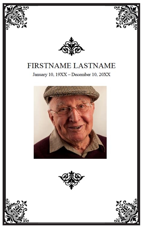 free editable funeral program template posted on 3 12 12 by mywonderfullife staff