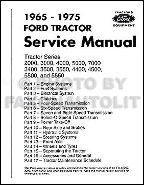 Ford Tractor Repair Shop Manual
