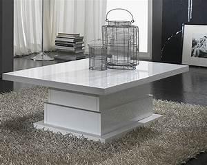 Table Basse Ronde Blanc Laqué : table basse salon blanc laque table salon ronde blanche somum ~ Teatrodelosmanantiales.com Idées de Décoration