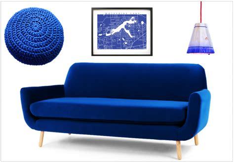 la redoute housse de canapé une touche de bleu électrique dans la déco joli place