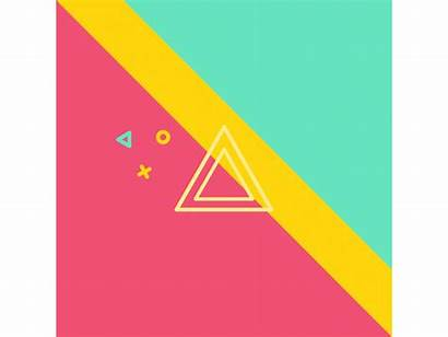 Dribbble Square Rnd Shapes Animated Colour Graphics