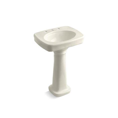 kohler cimarron pedestal sink biscuit kohler bancroft vitreous china pedestal bathroom sink
