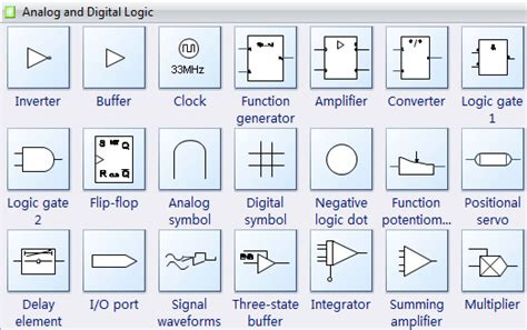 Circuit Symbols For Digital Analog Logic Design