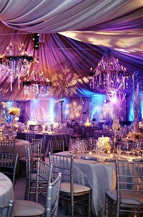 silver winter wedding  dramatic   purple