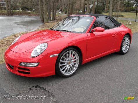 guards red porsche 2005 porsche 911 carrera s cabriolet in guards red photo