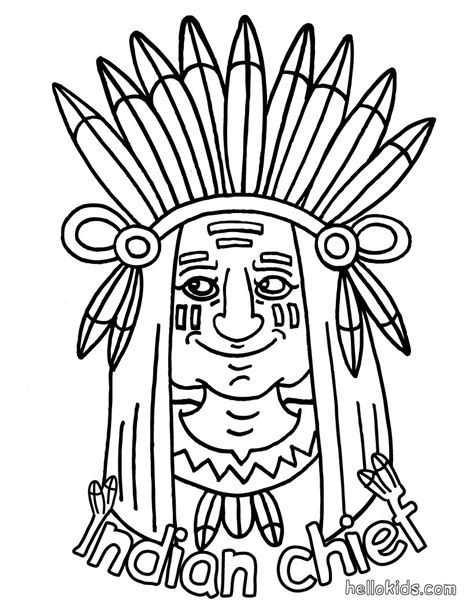 indian coloring pages hellokidscom