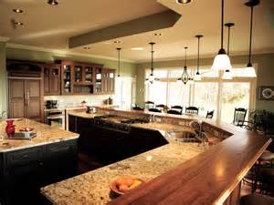 kitchen island with bar top creating a family kitchen hgtv