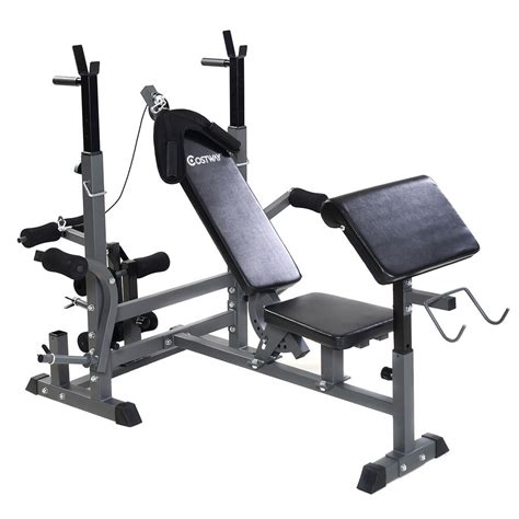 Bench Workout by Costway Adjustable Weight Lifting Flat Incline Bench