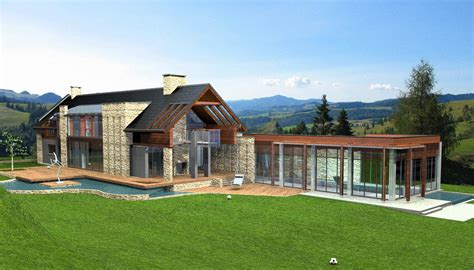 Country House : Modern Country House D Model