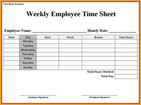 Timesheet Template Employee Timesheet Templates Hunecompany