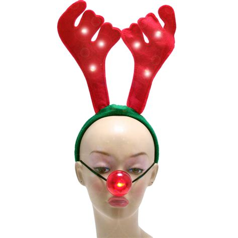 light up reindeer antlers and nose 23136rdaj