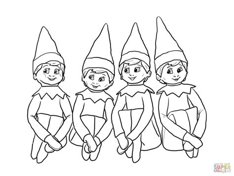 Free Printable Elf On The Shelf Coloring Pages Coloring Home