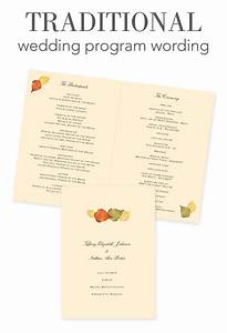 how to word your wedding programs traditional wording With wedding reception program wording ideas