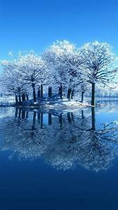 Amazing Snow Tree Reflection iPhone 6s Wallpapers HD