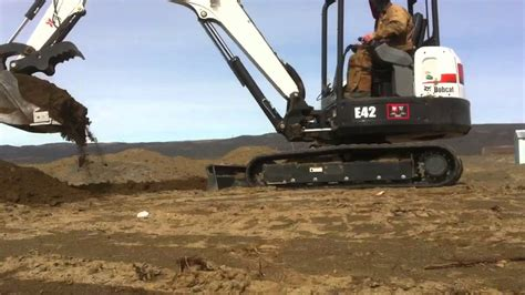 bobcat  mini excavator youtube