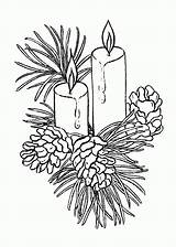 Candle Coloring Pages Print sketch template