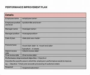 performance improvement plan template 14 download With sample process improvement plan template